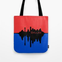 Dallas City Skyline Tote Bag
