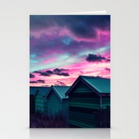 Infrared Sunset Stationery Cards