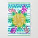 Pineapple Tribal Canvas Print