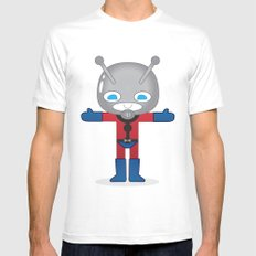 ANTMAN ROBOTIC SMALL Mens Fitted Tee White