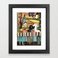 People Will Talk Framed Art Print