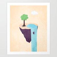 Floating Island Art Print