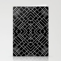 PS Grid 45 Black Stationery Cards