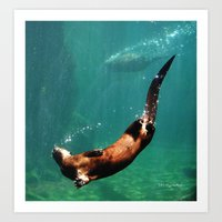 Everybody Otter Have Shi… Art Print