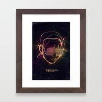 Asian Disco Laser Framed Art Print