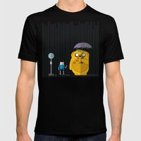 adventure time totoro Mens Fitted Tee Black SMALL
