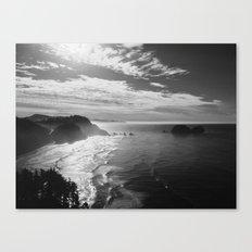 Cape Lookout - Black & White Canvas Print