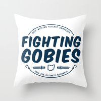 Fighting Gobies Nationals - Blue Throw Pillow