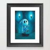 Mummy Shyguy Framed Art Print