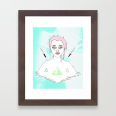 Acid Girl Framed Art Print