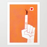the point is my heart Art Print