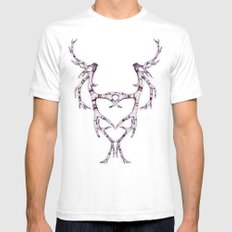 Mask-lers SMALL White Mens Fitted Tee
