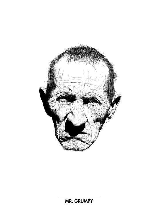 Mr. Grumpy Art Print