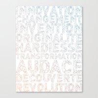 INNOVATION - SYNONYMS Canvas Print