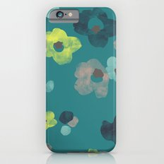 Watercolor Blooms - in Teal Slim Case iPhone 6s