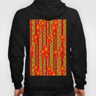 Red Poppies Stripes Yell… Hoody