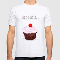 keep calm Mens Fitted Tee Ash Grey SMALL