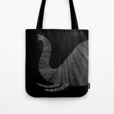 Elephant (On Black) Tote Bag