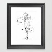 Pedigree - Black And Whi… Framed Art Print