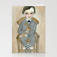 Nicolas - A Hand Painted Victorian Orphan Child Portrait Stationery Cards
