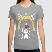 Coffee Power Womens Fitted Tee Tri-Grey SMALL