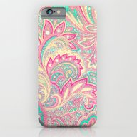 Pink Turquoise Girly Chi… iPhone 6 Slim Case