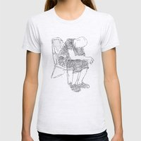 The Sitter Womens Fitted Tee Ash Grey SMALL