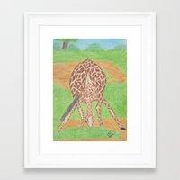 Yoga in Africa Framed Art Print