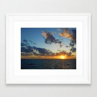 Atlantic Ocean Sunset  Framed Art Print