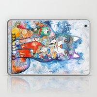 Chinese Cat - Watercolor… Laptop & iPad Skin
