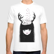 Bambi & moi Mens Fitted Tee SMALL White