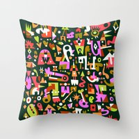 Schema 16 Throw Pillow