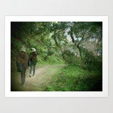 Forest Walks Art Print