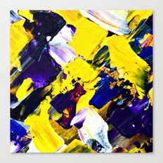 Yellow Intersections Canvas Print