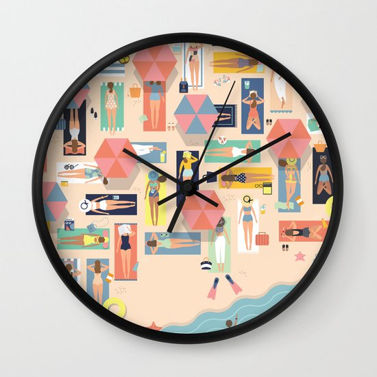 Summertime Wall Clock By Swanderfulthings Society6