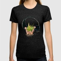Garden of Hope Womens Fitted Tee Tri-Black SMALL