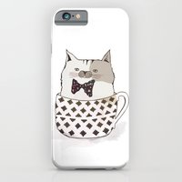 iPhone & iPod Case featuring A cup of cat, please! by missmalagata