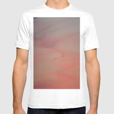 Pink Mist Mens Fitted Tee SMALL White