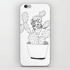 cactus in black iPhone & iPod Skin