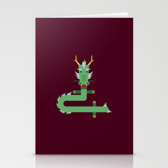 dragon Stationery Card