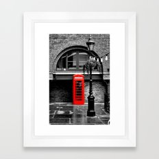 Red phone box Framed Art Print