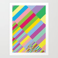 Art Print featuring Stairs to Office  [COLORS] [COLOR] [COLORFUL]  by David Nuh Omar