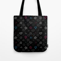 Hipster Figures  Tote Bag