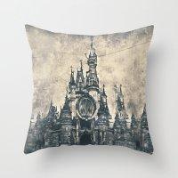 Disneyland Mix Throw Pillow