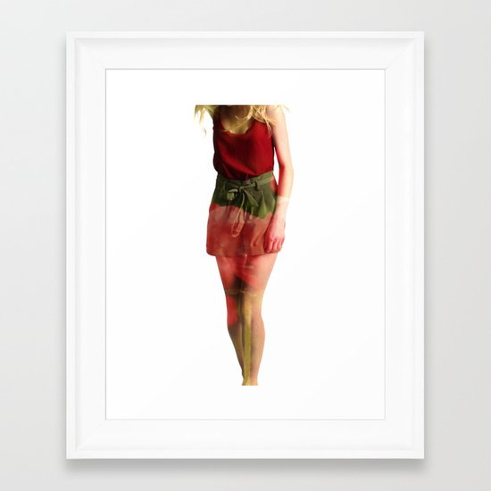 Ruby Love Framed Art Print