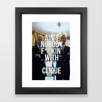 The Clique - '08-'16 Framed Art Print