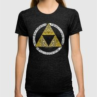Zelda - Triforce Circle Womens Fitted Tee Tri-Black LARGE