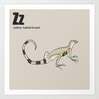Zebra-tailed Lizard Art Print