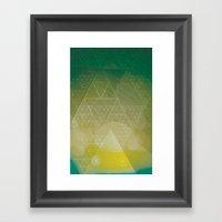 illuminate me green Framed Art Print