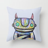 Devil with Good Intentions Throw Pillow